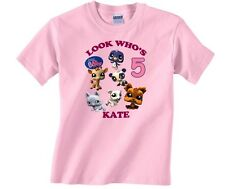 Littlest Pet Shop Personalized Custom Birthday Shirt in 8 Different Colors