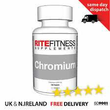 Chromium 200mcg - Tablets - blood levels, boost metabolism, weight loss FREE P&P