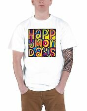 Happy Mondays Classic Logo Official Mens New White T Shirt All Sizes