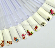 3D Design Beautiful Flowers Butterfly Adhesive Nail Art Stickers Decals Series