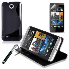 4in1 Accessory Bundle Kit Wallet Case Cover For HTC Desire 300