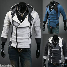 Men's Assassin's Creed III 3 Desmond Miles Cosplay Costume Hoodie Coats Jackets