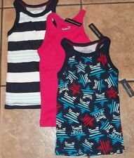 Girls FADED GLORY TANK TOPS~size 4-5 XS~NWT Your Choice PINK Lime Green PEACE