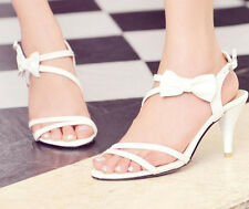 Women's Sweet Bow Sandals Roman Style Elegant Ladies Dating Shoes Free Shipping