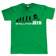 Evolution of Mountain Biker T-Shirt - Downhill Single Track MTB Ape to Man