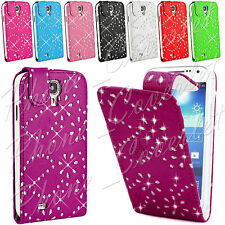 PU Leather Wallet Diamond Bling Phone Case Cover Samsung Galaxy S4 Mini i9190