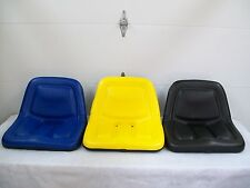 STEEL HIGH BACK YELLOW,BLACK,BLUE SEATS LAWN MOWERS,TRACTORS,JOHN DEERE,FORD #AN