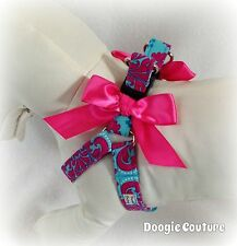 Quick & Comfy Party Pink & Blue Step In Dog Harness Size XS Through Medium