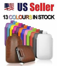 Pu Leather Pull Tab Case Slim Cover Pouch For Apple Iphone 3G 3GS 4 4S 5 5S 5C