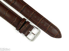 High Quality Brown Genuine Leather Watch Band Strap 12mm14mm16mm18mm20mm22m24mm