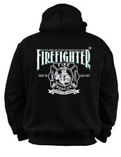 HOODIES FIREFIGHTER RESCUE TEAM  FIRE-BRIGADE FIRST IN LAST OUT !!! BF6