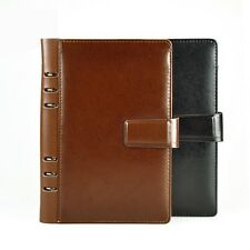 Faux Leather Notepad Notebook A5 Case Bound Diary Journal Travel Book Stationery