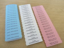 100 Printed Iron On Name Tapes, Name Tag Labels, School Uniform, Nursing Homes