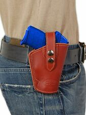 NEW Barsony OWB Burgundy Leather Holster Ruger Kimber Small 380 UltraComp 9mm 40