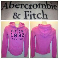 NWT ABERCROMBIE & FITCH WOMENS FLEECE HOODIES JACKET SIZE XS,S,M,L A&F pink
