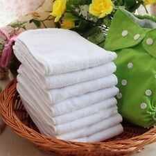 Lot Super Absorbent Reusable Infant Baby Cloth Nappy Diaper Liners Insert New