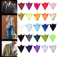 HOT Sale Men Hanky Silk Satin Pocket Square Hankerchief Party Tie Wedding Bridal