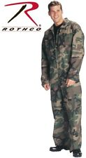 Woodland Camo Military Style Flight Suit Air Force Style Fighter Coveralls 7003