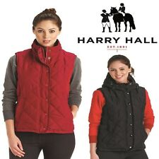 WOMENS HARRY HALL EQUESTRIAN QUILTED JACKET PADDED VEST HOODED GILET SIZES