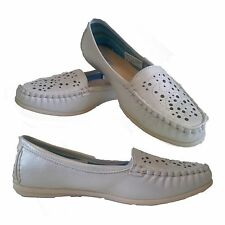 GIRLS LADIES MOCCASIN PUMPS LOAFERS FLAT SUMMER SANDALS  SLIPPERS SHOES SIZE,