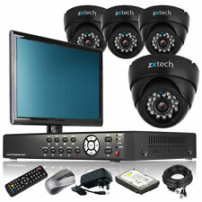 4 x Colour Camera Full D1 4 Channel DVR CCTV Kit Dual Streamming with Monitor 3G