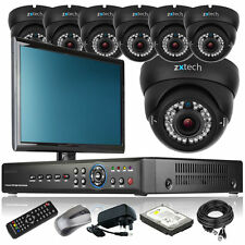 7 x Focal Lens Camera Full D1 8 CH DVR CCTV System All Inclusive with Monitor 3G