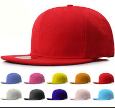 NEW Classic Snapback Snap Back Baseball Blank Plain Hat Cap 100% Cotton
