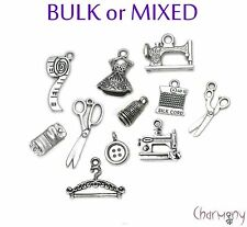 Sewing charms ~ BULK or MIXED ~ machine button thimble scissors sew thread bead
