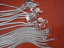 5PCS 925Sterling Silver 3MM 16-24inch Snake Chains Men Women Necklace N192