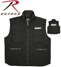 SECURITY Black Military Tactical Law Enforcement Ranger Vest With Hood 7457