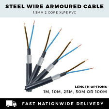 SWA CABLE ARMOURED CABLE 1.5mm CABLE 2 CORE CABLE PER METER,10M, 25M,50M or 100M