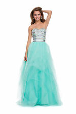 Unique Beaded Corset Top Strapless Sweetheart Neckline Tulle Long Prom Dress
