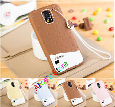 Cute Strawberry Icecream TPU Back Case Cover for Samsung Galaxy S5 SV I9600