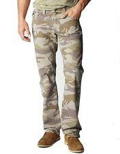 True Religion Jeans Men's Ricky Straight Camo Twill Wolf Trail MWZ859OLB0