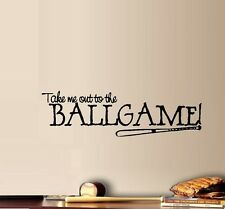 Take Me Out To The Ballgame #1  ~ Wall or Window Decal