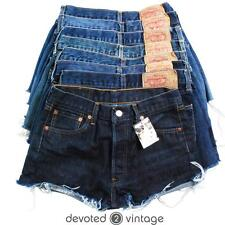 VINTAGE LEVI DENIM SHORTS HIGH WAISTED 501 HOTPANTS 6 8 10 12 14 16 18 20 501s