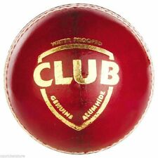 SG Club Red 4 Piece LEATHER Cricket Ball 1x,2x,3x,6x,12x + AU Stock + Free Ship