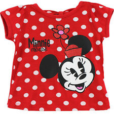 Minnie Mouse Girls Red T-Shirt Top MNG37979 4 5 6 6X