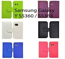 New Pu Leather Wallet Flip Case Cover For Samsung Galaxy Y S5360 S5363 S5369