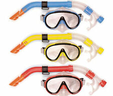 OSPREY ADULT MASK & SNORKEL SET SNORKELING BLUE YELLOW RED COLOUR NEW SEA BEACH