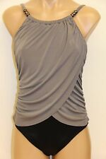 New Magic Suit by Miraclesuit Swimsuit 1 one piece Gray Stone Beige