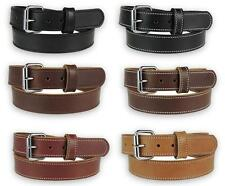 "150-ST_1-1/2"" HEAVY DUTY STITCHED LEATHER WORK HOLSTER BELT AMISH HANDMADE 5MM"
