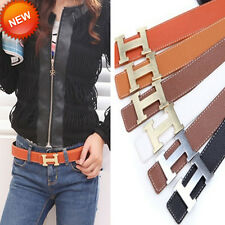 """Hot Lady Fashion chic 5 color Faux Leather """"H""""Buckle Waist Belt Waistband 12"""