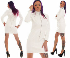 Patent Dress Vinyl Patent Quality Dress White Pvc Dress Robe De Soirée All Sizes