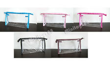 1 5 10 Clear Transparent Plastic PVC Travel Cosmetic Make Up Toiletry Bag Zipper