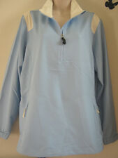 New Womens L NikeGolf WindBreaker Sky Blue Windproof Coupe-Vent Pull-Over $65
