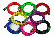 25Ft 12 Gauge 12/3 SJTW Outdoor Lighted Extension Cord Pick from 8 Colors UL/cUL