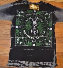 "Rebel Saints by AFFLICTION ""Bandana"" Motorcycle Club T-Shirt Adult Sizes"