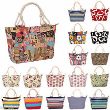 Womens / Ladies Canvas Beach Tote Bag / Shopping Bag / Handbag -- BNWT