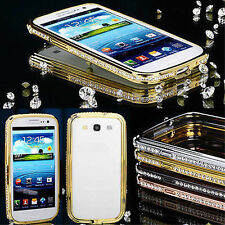 Diamond Crystal Metal Aluminum Bumper Case For Samsung Galaxy Note 3, 2 S3, S4